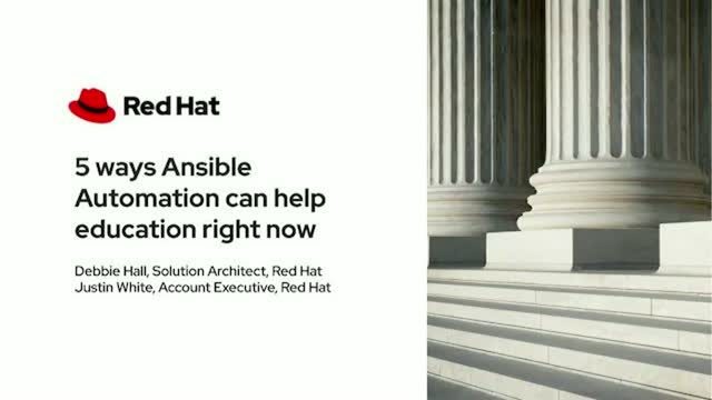 5 Ways Ansible Automation Can Help Education Right Now