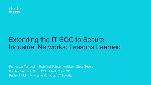 Extending the IT SOC to OT: Lessons Learned