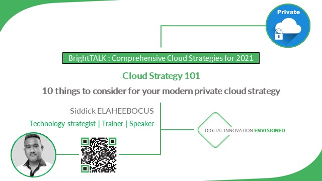 Cloud Strategy 101: 10 things to consider for your modern private cloud strategy