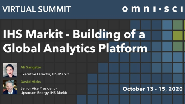 IHS Markit - Building of a Global Analytics Platform