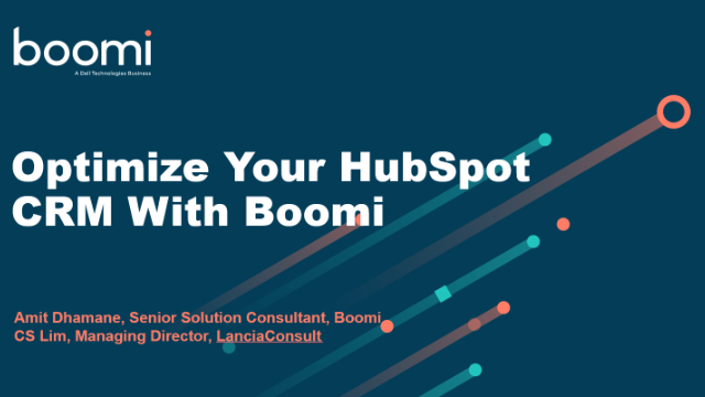Optimize Your HubSpot CRM With Boomi