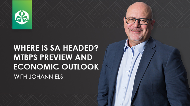Where is SA headed? MTBPS preview and Economic Outlook