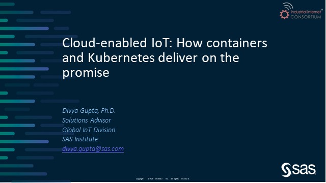Cloud-enabled IoT: How containers and Kubernetes deliver on the promise