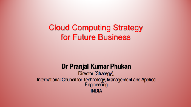 Cloud computing: achieving business targets in the faster & organized way