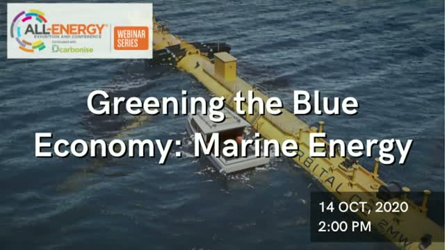 Greening the Blue Economy: Marine Energy