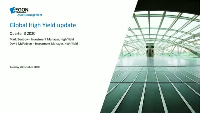 Aegon AM High Yield Strategy update Q3 2020