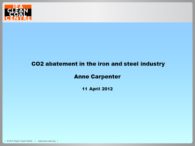 CO2 abatement in the iron and steel industry