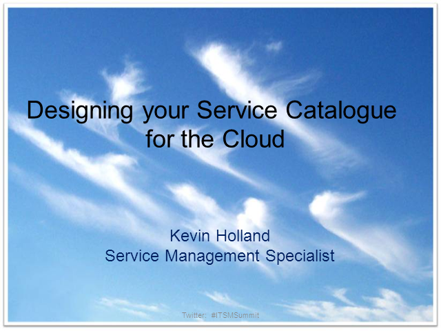 Cloud service catalog example for Consul service catalog