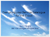 Designing Your Service Catalog for the Cloud