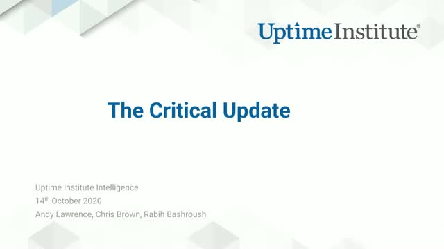 The Critical Update - 3Q 2020