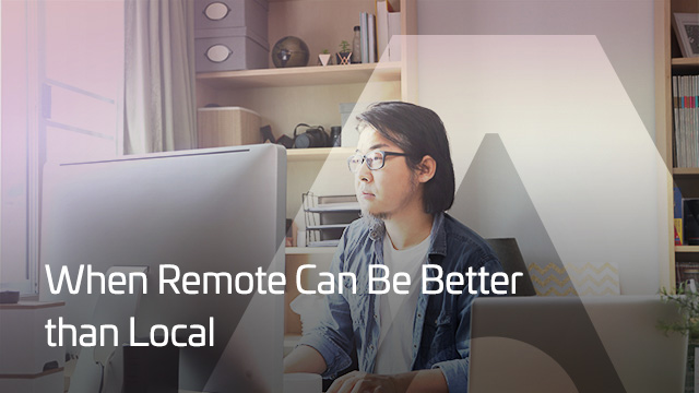 When Remote can be Better than Local