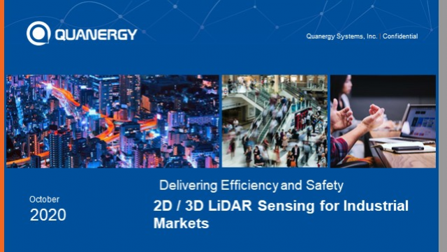 Delivering Efficiency & Safety: 2D / 3D LiDAR Sensing for Industrial Markets