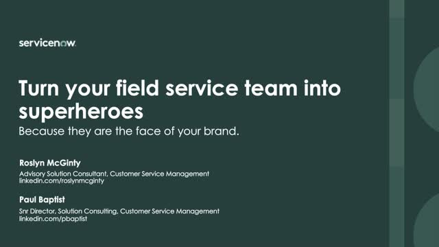 Turn your field service team into Superheroes
