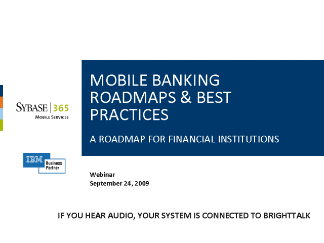 Implementing Successful Mobile Banking Services