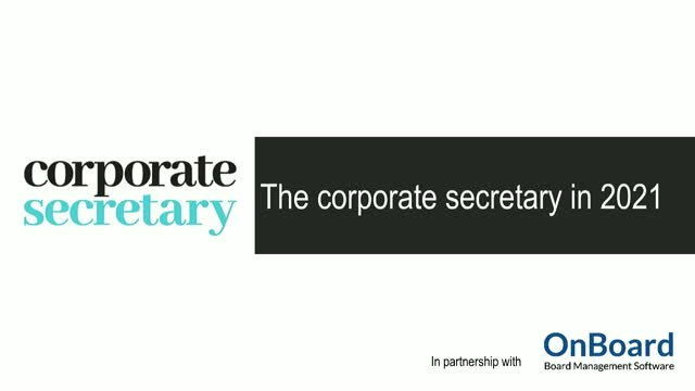Webinar – The corporate secretary in 2021