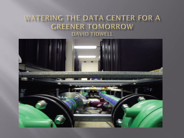 Watering the Data Center for a Greener Tomorrow