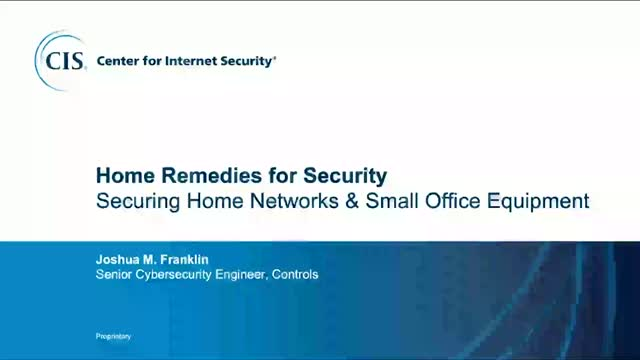 Securing Home Networks & Small Office Equipment