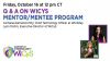 Q & A on WiCyS Mentor/Mentee Program