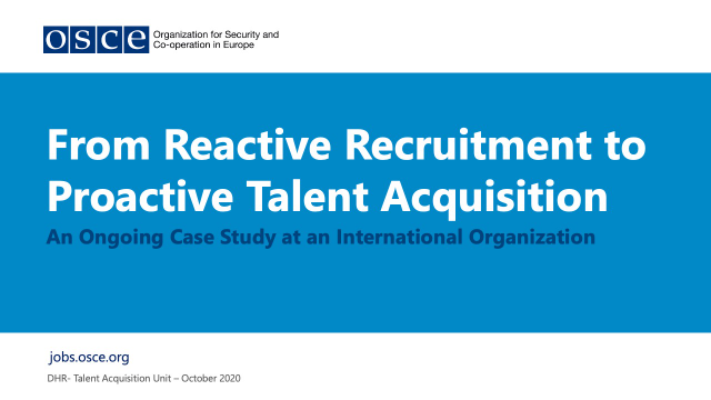 Transitioning from Reactive Recruitment to Proactive Talent Acquisition