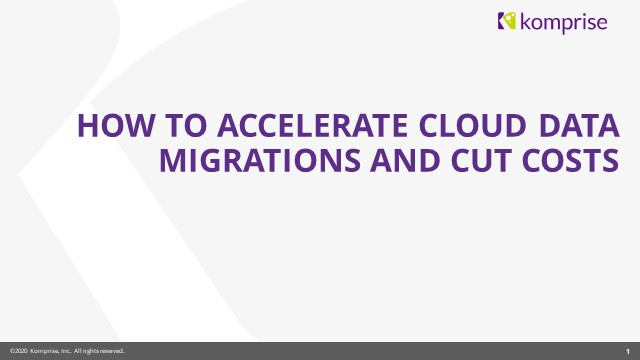 How to Accelerate Cloud Data Migrations and Cut Cloud Costs
