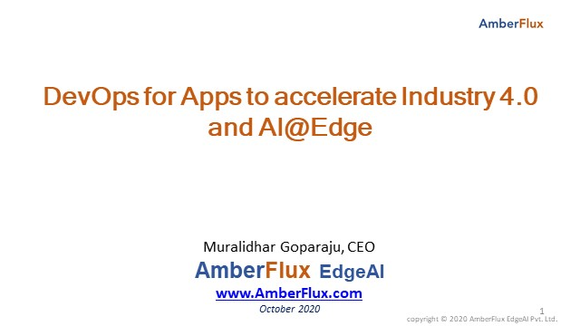 DevOps for Apps to accelerate Industry 4.0 and AI@Edge