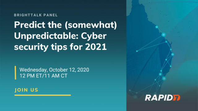 [Panel] Predict the (somewhat) Unpredictable: Cyber security tips for 2021