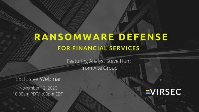 Ransomware Defense for Financial Services