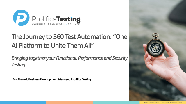 """The Journey to 360 Test Automation: """"One AI Platform to Unite Them All"""""""