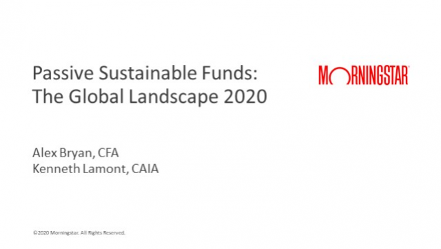 Passive Sustainable Funds: The Global Landscape 2020