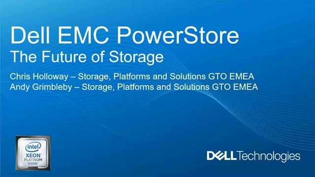 PowerStore overview & short demo