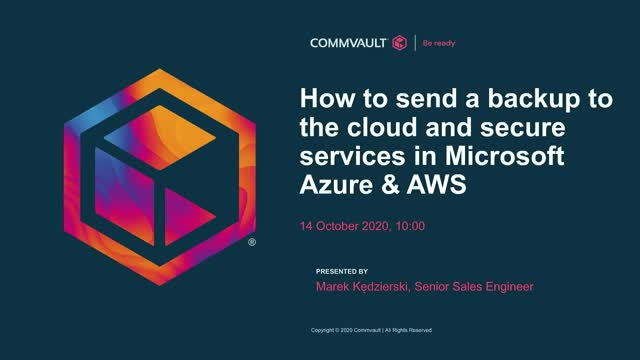 How to send a backup to the cloud and secure services in Microsoft Azure & AWS