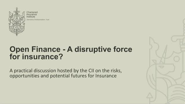 Open Finance - A disruptive force for insurance?