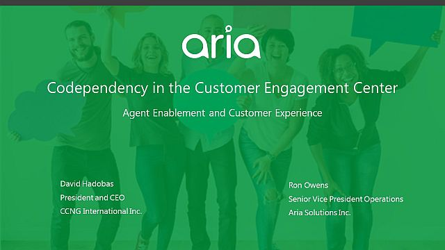 Codependency in the Customer Engagement Center