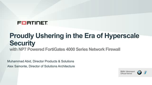 Proudly Ushering in the Era of Hyperscale Security