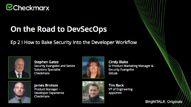 How to Bake Security Into the Developer Workflow