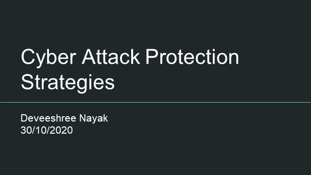 Cyber Attack Protection Strategies