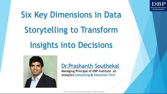 Six dimensions in data storytelling to transform insights into decisions