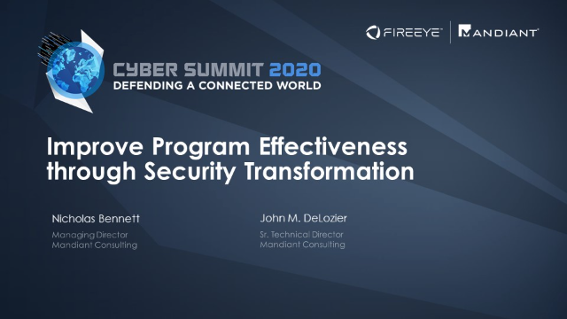 Improve Program Effectiveness through Security Transformation