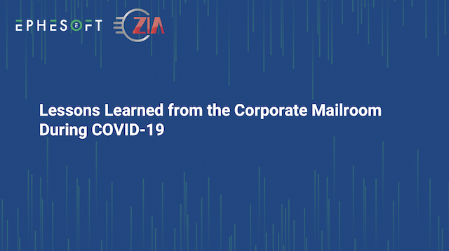 Lessons Learned from the Corporate Mailroom During COVID-19