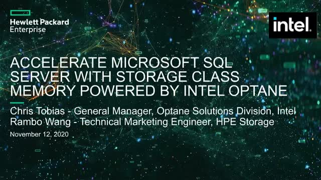 Accelerate Microsoft SQL Server w/ Storage Class Memory powered by Intel Optane