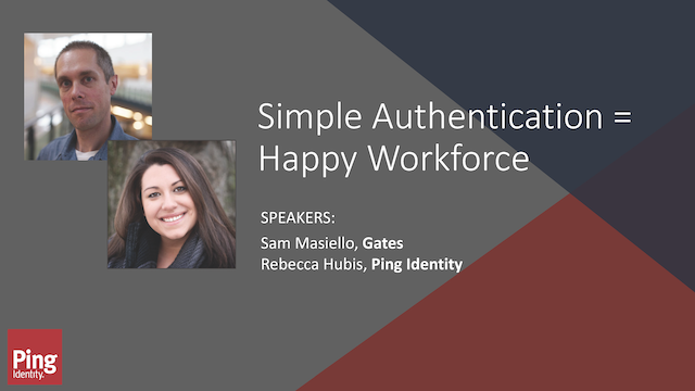 Simple Authentication = Happy Workforce