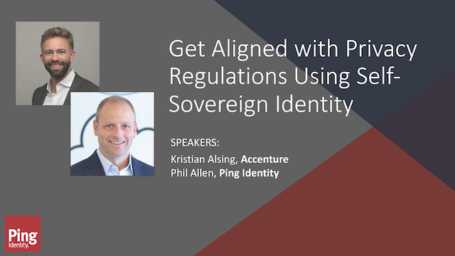 Get Aligned With Privacy Regulations Using Self-Sovereign Identity