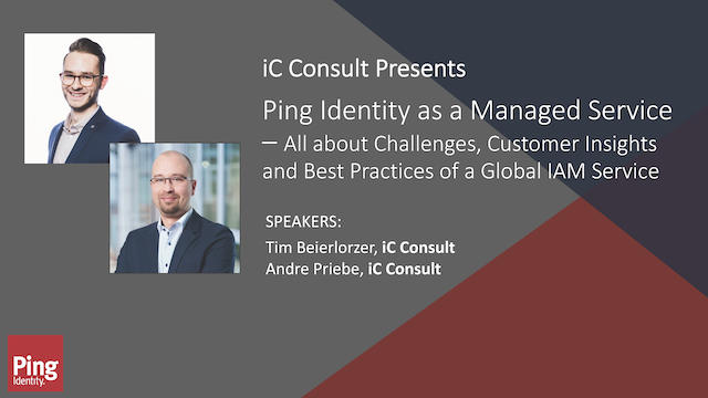 iC Consult Presents: Ping Identity as a Managed Service