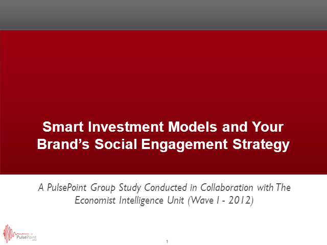 Smart Investment Models as You Build Your Brand's Social Engagement Strategy