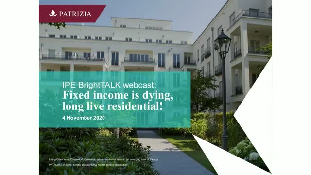 Fixed income is dying, long live residential!