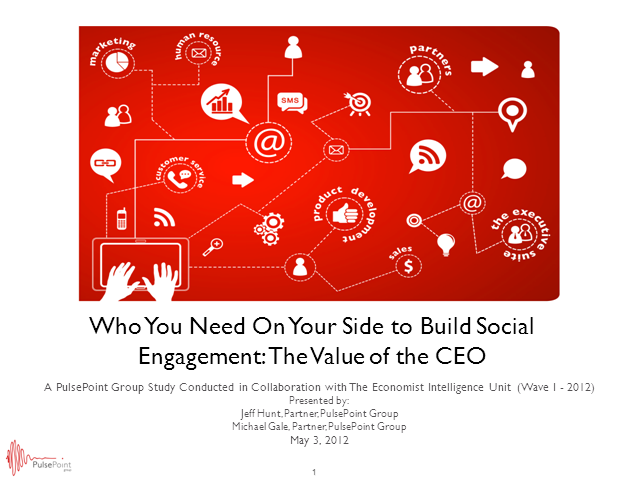 Who You Need on Your Side to Build Social Engagement: The Value of the CEO