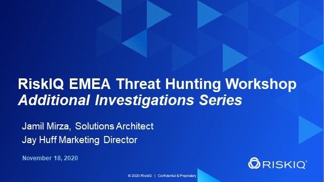 EMEA Threat Hunting Workshop - Additional Investigations Series, #3