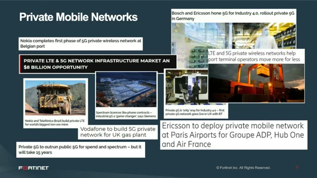 Security in 5G Private Networks