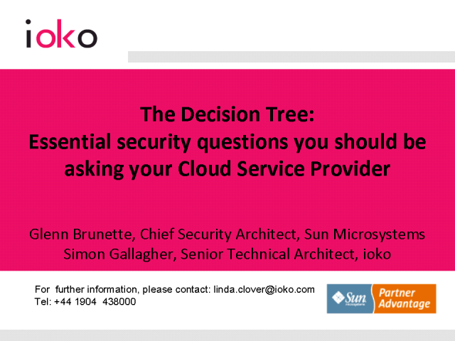 Decision Tree: Key questions to ask your Cloud Service Provider
