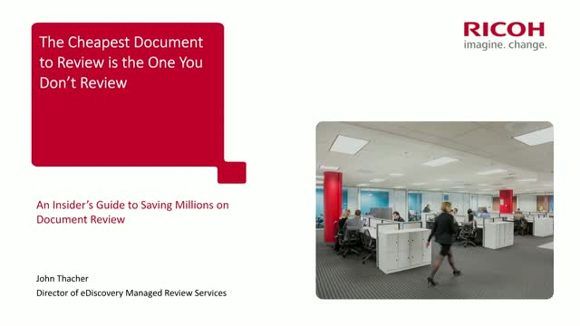 The Cheapest Document to Review is the One You Don't Review